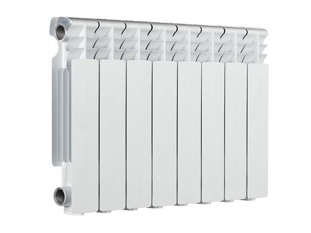 8-Part Panel Aluminium Radiator 624 W - Inertia electric heater