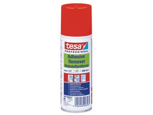 Adhesive remover to easily eliminate adhesive residue : tesa® Professional 60042