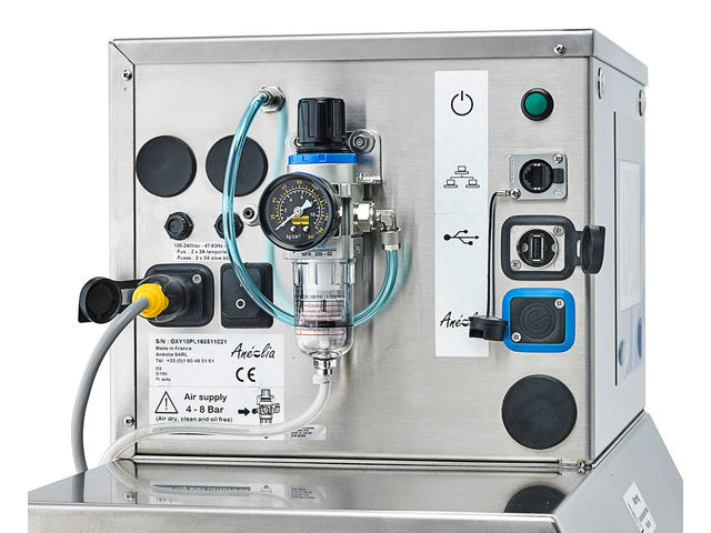 Automated O2/CO2 gas analyser without consumables : Oxylos O2 / CO2