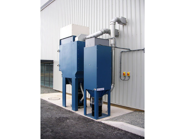 Bag dust collector : mechanical shaker  POLUCLEAN® P - product presented by NEU AIR MOVING TECHNOLOGIES