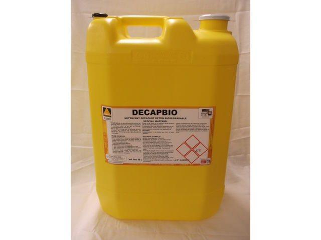 Biodegradable concrete cleaner/remover : DECAP BIO