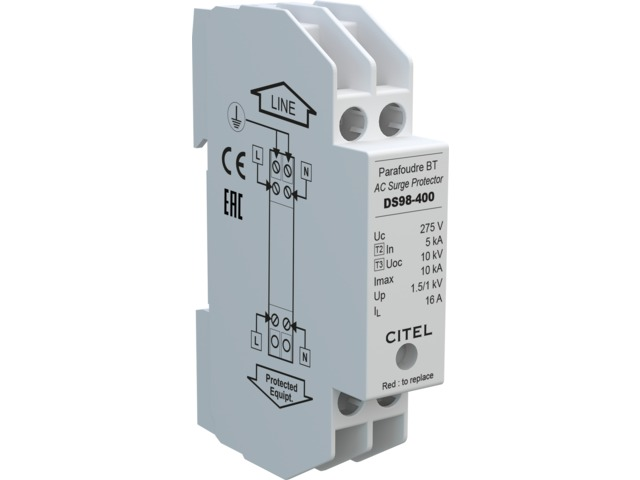 Compact single-phase type 2 surge protector : DS98 series