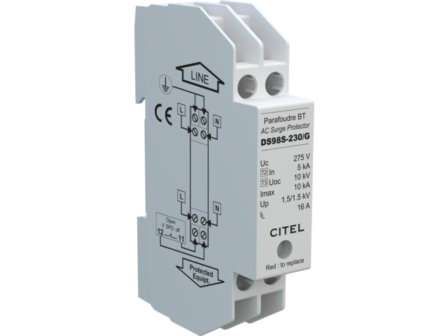 Compact single-phase type 2 surge protector : DS98 series - CITEL-2CP