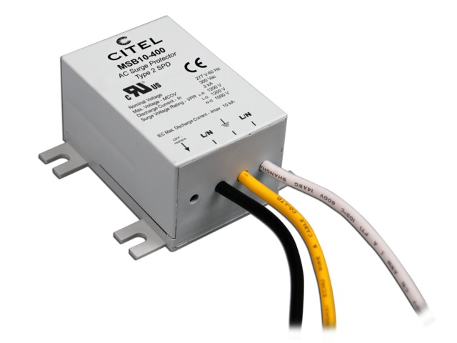 Compact type 2 hard-wired surge protector : MSB10 series