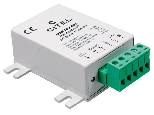 Compact type 2 hard-wired surge protector : MSB10 series - CITEL-2CP