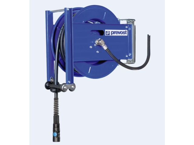Compressed air hose reel / open-drum / for compressed air / steel