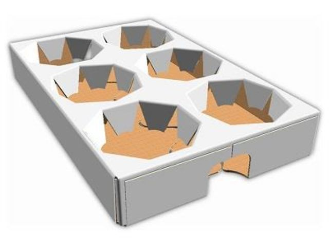 Corrugated Basket - Cardboard food tray