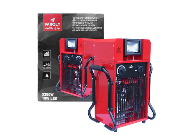 Electric Workspace Heater 3300 W - product presented by ITEC-PRO COMEX EURO DEVELOPMENT