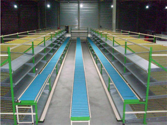 Free rollers conveyor with PVC roller
