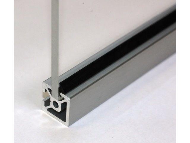 White Aluminium Panel : Insert seals for aluminium profiles with mm slot u for mm panel