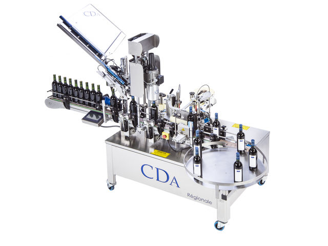 Labelling and Capsule Crimping Machine for Bottles - Régionale Model