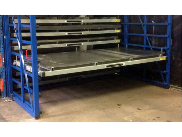 Metal Sheet Rack Horizontal Contact Eurostorage