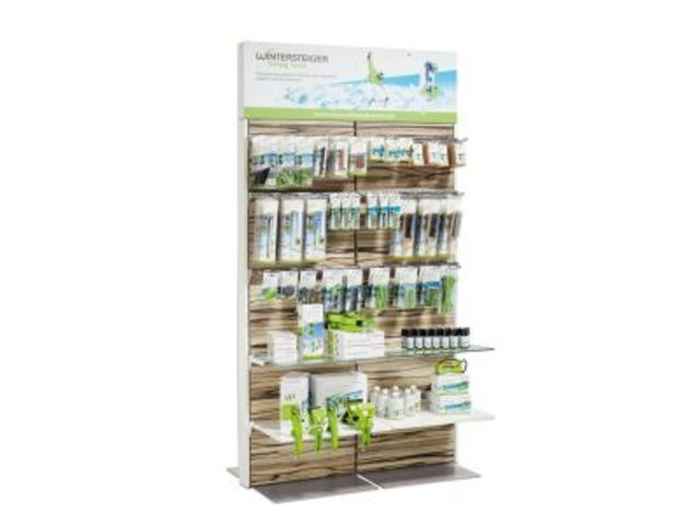 Modular sales stand for soft goods, accessories and equipment : POS Furniture  - Display stands