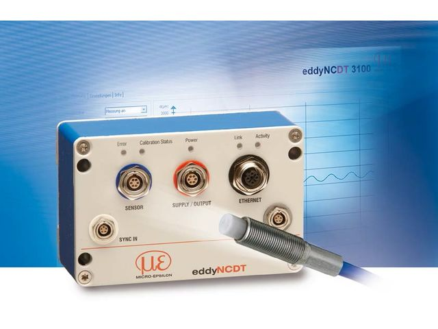 Non-contact eddy current displacement sensors: eddyNCDT 3300 - product presented by MICRO-EPSILON