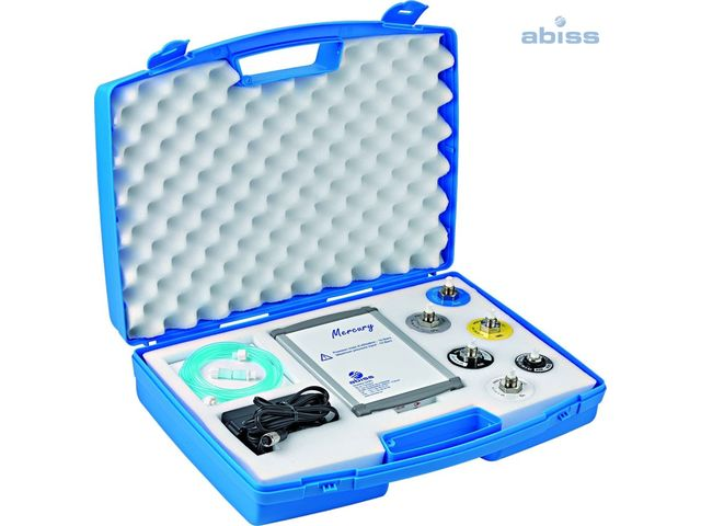 O2 gas and pressure analyser with CO2 detection & Medical fluid detector : Mercury O2 / CO2