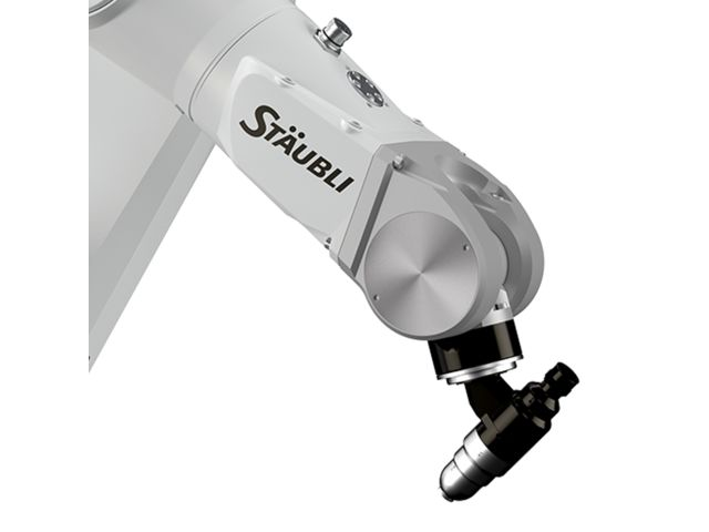 Zoom of the TX90 Paint 6-axis robotic arm