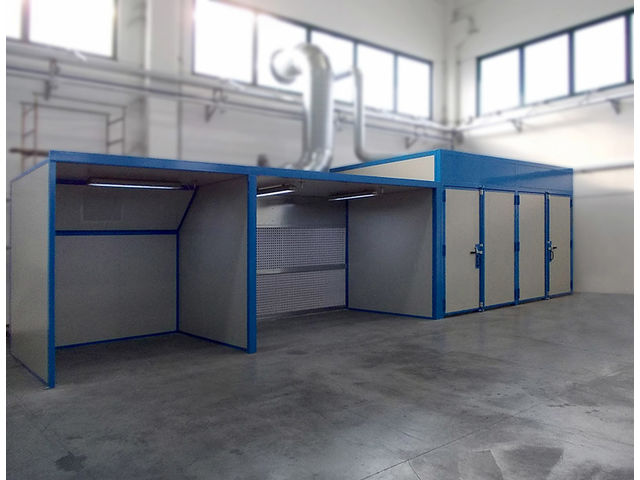 Painting booths with dry filtration - product presented by EUROTHERM