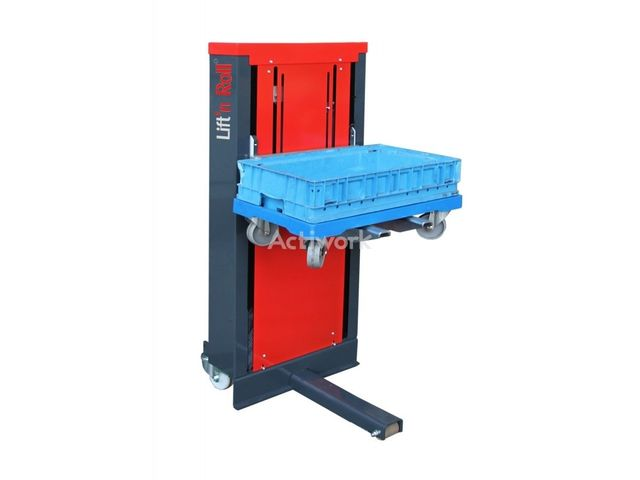 Pneumatic bin stacker unstacker