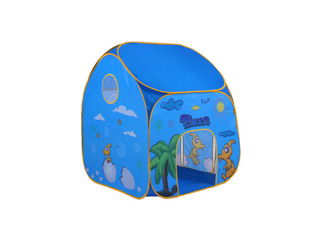 Pop-Up Kids Play Tent - Blue Small House