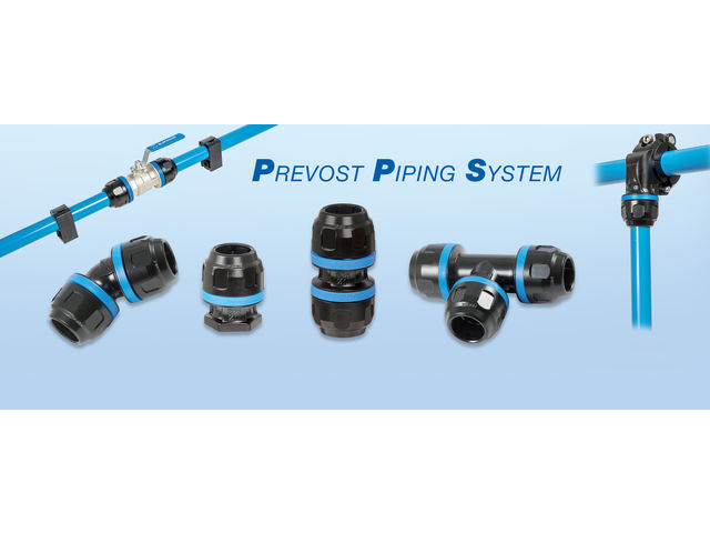 PREVOST PIPING SYSTEM alumium network - product presented by PREVOST AIR COMPRIME
