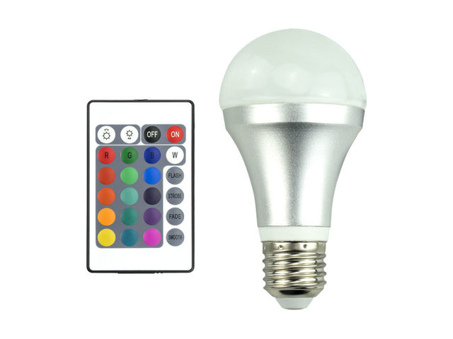 E w colorful auto rotating rgb led bulb stage light party lamp