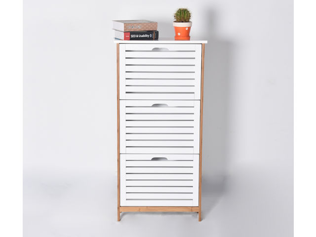 Shoe Cabinet - 3 drawers H 108.5 cm