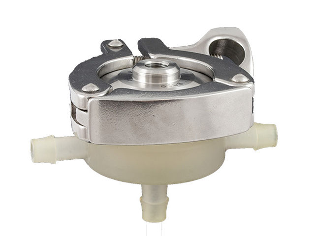 Signle use back pressure regulator