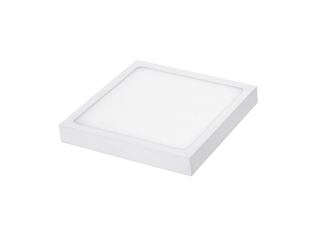 Square LED Panel Light - 190 mm - 18 W, 1600 lm, 3000 K, White - ITEC-PRO COMEX EURO DEVELOPMENT