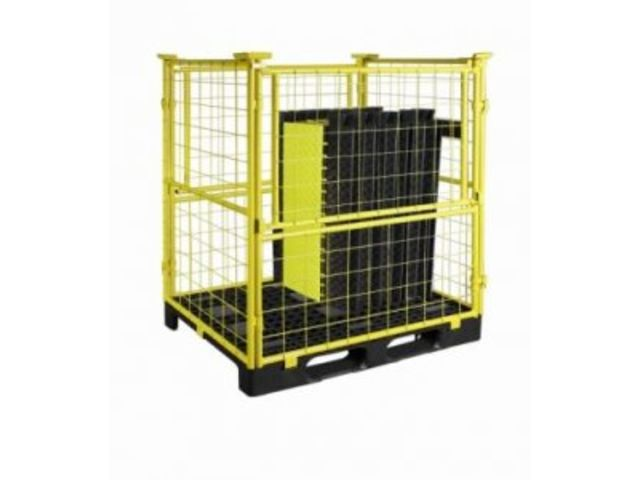 Stackable container for storing and transporting cable protector : BOA or COBRA BOX