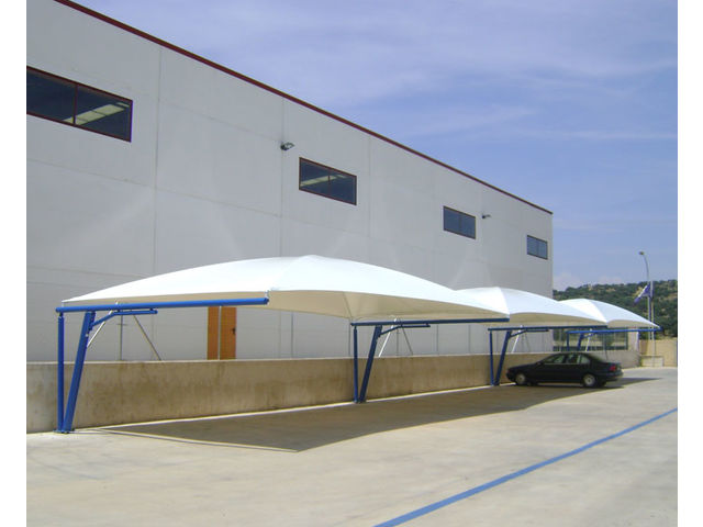 Textile parking canopies - product presented by EUROPA PREFABRI & Textile parking canopies | Contact EUROPA PREFABRI