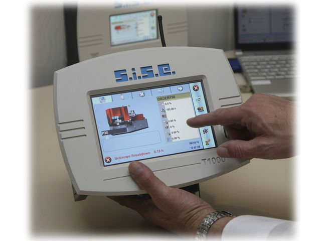 Touch Terminals for Software MES Cyclades : Production monitoring