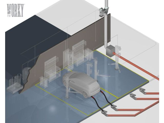 Underfloor systems for extracting exhaust fumes | Worky