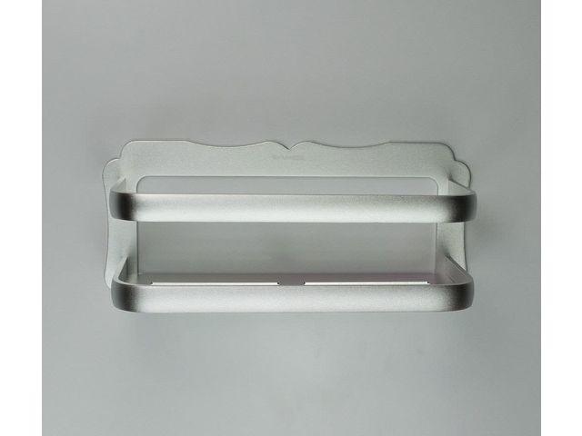 Wall Mounted Aluminium Bathroom Shelf - No Drilling - L. 30 cm ...