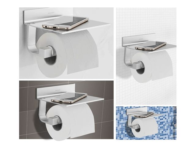 wall mounted toilet paper holder with shelf no drilling hygiene products