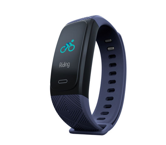 Waterproof fitness bracelet with activity tracking and GPS functions - Blue