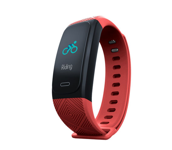 Waterproof fitness bracelet with activity tracking and GPS functions - Red