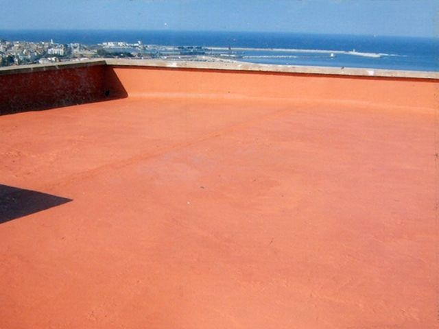 Waterproofing paint balconies decks terraces Decorative and protective paint for surfaces subject to foot traffic