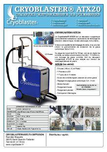 Dry ice blasting machine delicate work - CRYOBLASTER® - DELTA DIFFUSION