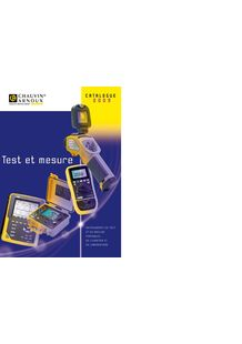 Hand-held, field and laboratory Test and Measurement instruments - CHAUVIN ARNOUX