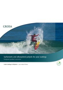Surfactants Brochure - CRODA FRANCE