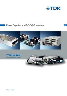 Power Supplies Shortform Brochure - TDK-LAMBDA FRANCE SAS