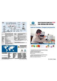 New Spectrophotometer CM-5 Konica Minolta - KONICA MINOLTA SENSING (DIV. PLASTIQUES)