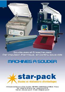 Sealing machines - STAR PACK SA