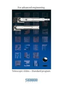 Telescopic slides – Standard program - SCHOCK METALLWERK GMBH