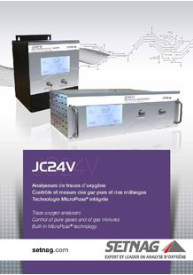 Trace oxygen analyser JC24V serie -