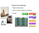 Paints for buildings