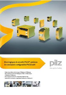 Safety relays, configurable control systems - PILZ FRANCE ELECTRONIC
