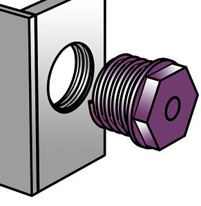 Quote Metric hex head plug (form A)