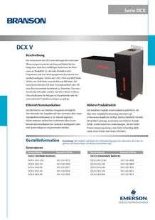 DCX-S Series for automated welding applications - BRANSON ULTRASONS, MACHINES DE SOUDAGE DES PLASTIQUES, SOUDURE DES METAUX