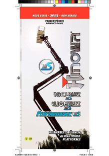 TRACKED AERIAL PLATFORMS IIIS SERIES - HINOWA